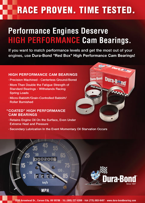 High Performance Cam Bearings