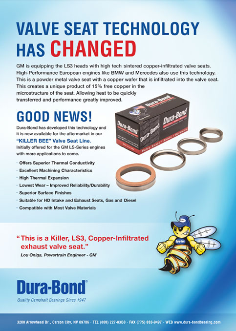 Killer Bee COpper Infiltrated Valve Seats