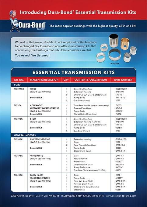 Dura-Bond Essential Transmission Kits